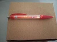 Ручка шариковая автоматическая с синей пастой брендированные ТМ Алокозай, фото 1