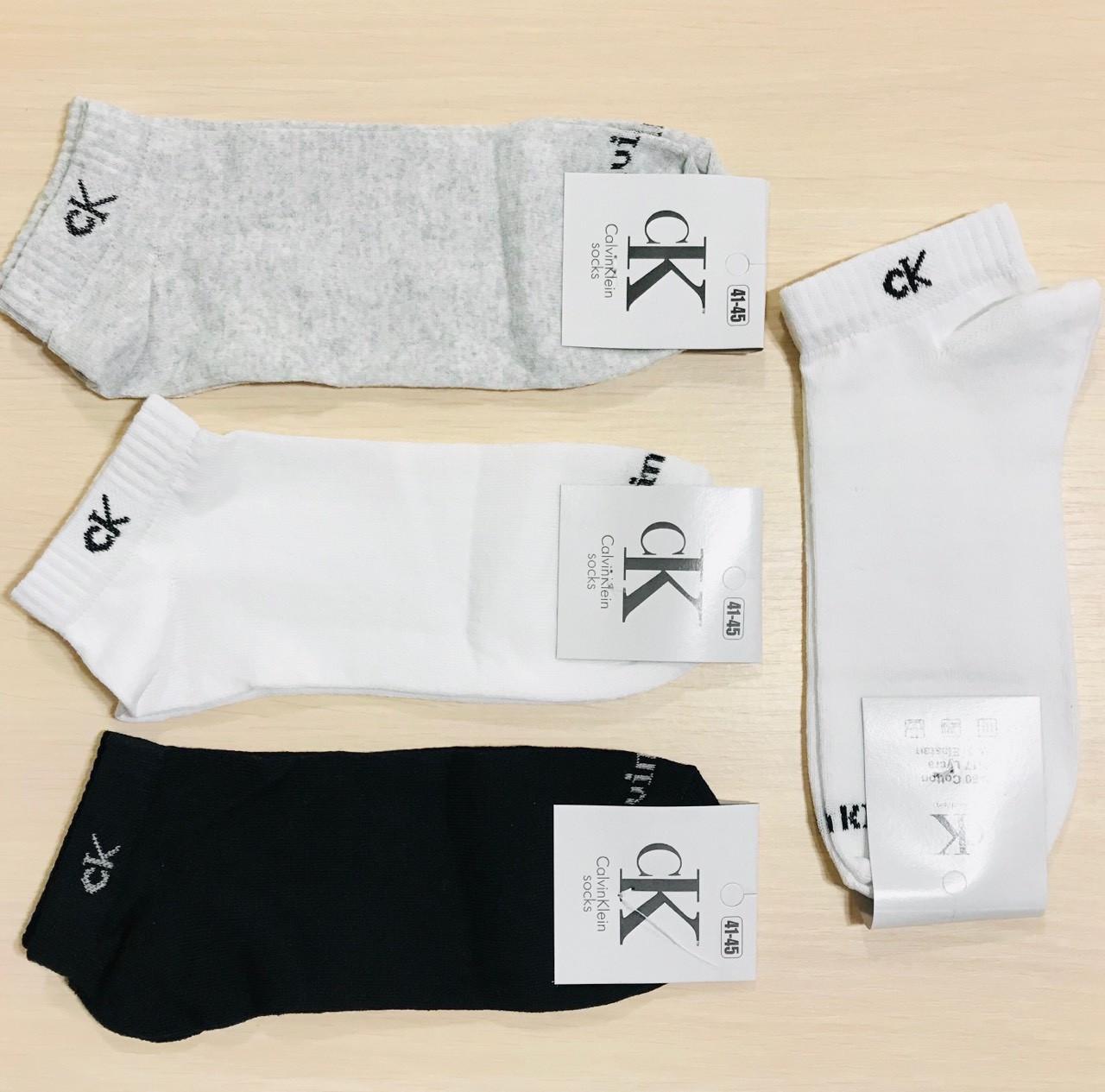 Носки мужские демисезонные хлопок укороченные Calvin Klein Турция размер 41-45 ассорти