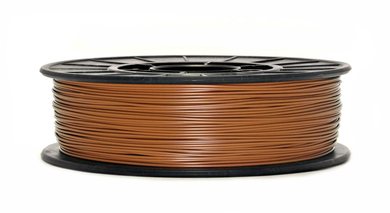 Нить PLA (ПЛА) пластик для 3D печати, Светло-коричневый (1.75 мм/0.75 кг)