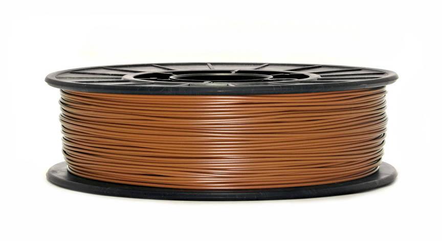 Нить PLA (ПЛА) пластик для 3D печати, Светло-коричневый (1.75 мм/0.75 кг), фото 2