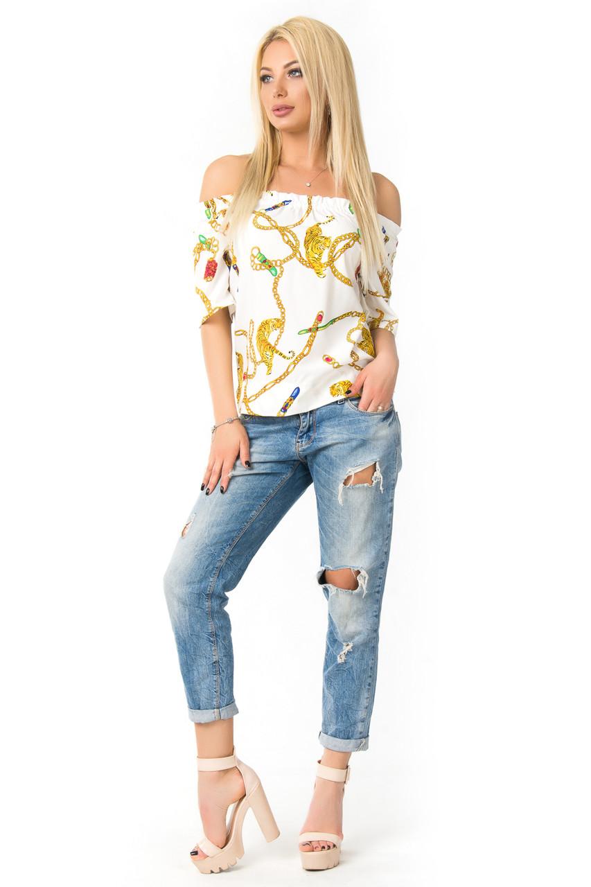 Красивая блуза-топ на лето (в расцветках)