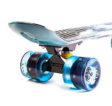 """Скейт """"Penny Board"""" """"Galaxy"""" Светящиеся колеса, фото 2"""