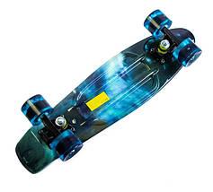 """Скейт """"Penny Board"""" """"Galaxy"""" Светящиеся колеса, фото 3"""