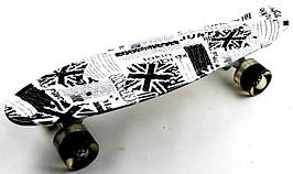 "Скейт ""Penny Board"" ""British item"". Светящиеся колеса"