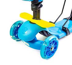 """Самокат Scooter """"Пчелка"""" 5in1 Blue, фото 2"""