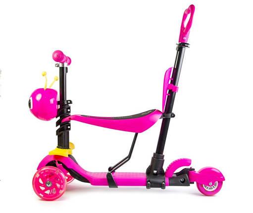 "Самокат детский Scooter ""Пчелка"" 5in1 Pink, фото 2"