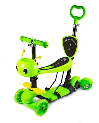"""Самокат детский Scooter """"Пчелка"""" 5in1 Green, фото 2"""
