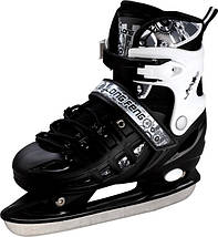 Ролики-коньки Scale Sport. черные (2в1) размер 34-37, фото 3