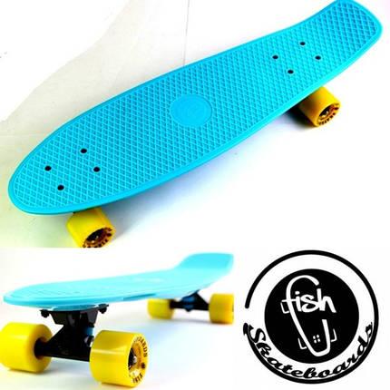 "Скейт ""Penny Board"" Original Nickel ""Fish"" Light blue., фото 2"