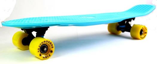 "Скейт ""Penny Board"" Original Nickel ""Fish"" Light blue., фото 3"