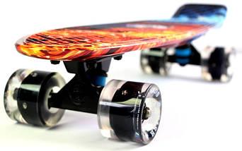 """Скейт """"Penny Board"""" """"Fish"""" Fire and Ice., фото 2"""