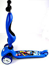 Трехколесный самокат-трансформер 2 в 1. Scale Sports. Disney. Blue, фото 2