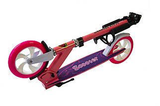 Самокат Scale Sports SS-05 розовый двухколесный, фото 2