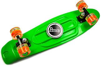 """Скейт """"Penny Board"""" Nickel 27"""".Green Светящиеся колеса, фото 3"""