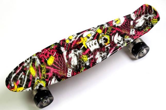 """Скейт """"Penny Board"""" """"Deck"""" Светящиеся колеса, фото 2"""