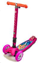 "Самокат  Smart Disney ""Barbie"" Складная ручка, фото 2"