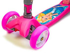 "Самокат  Smart Disney ""Barbie"" Складная ручка, фото 3"