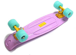 """Скейт """"Penny Board"""" Ліловий колір. Світяться колеса., фото 3"""