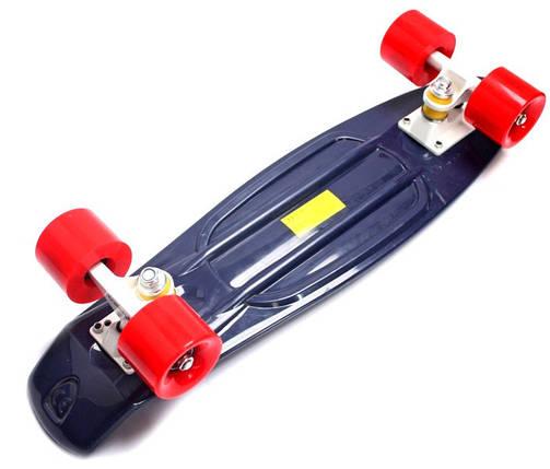 "Скейт ""Penny Board"" Темно-синий цвет. Красные колеса., фото 2"