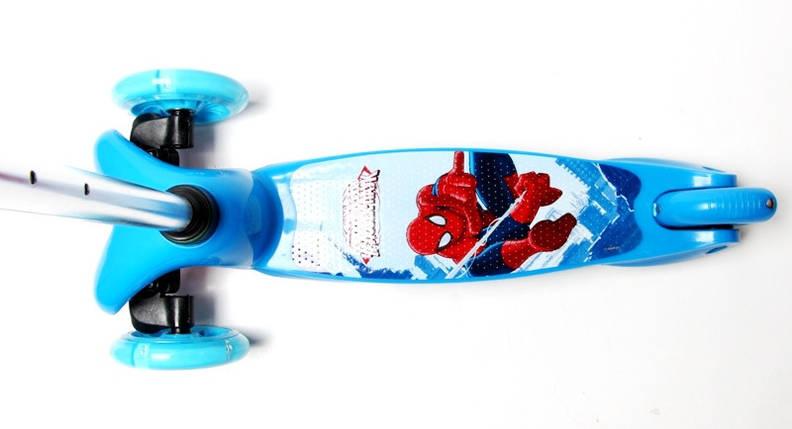 Самокат детский Micro Mini. Spiderman. Светящиеся колеса!, фото 2