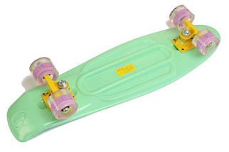 """Скейт """"Penny Board"""" Nickel 27"""". Мятный цвет. Светящиеся колеса, фото 3"""