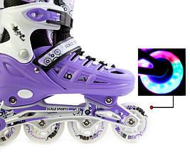 Ролики Scale Sport. Violet размер 29-33, фото 3