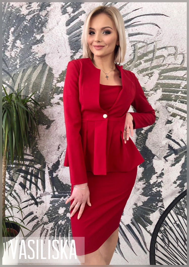 Женский костюм 2-ка: платье и жакет в расцветках. ВВ-3-0419