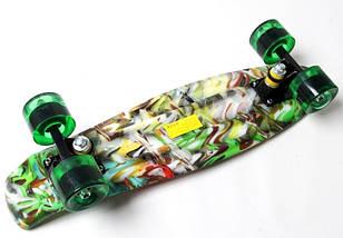 """Скейт """"Penny Board"""" """"Green cane"""". Светящиеся колеса., фото 3"""