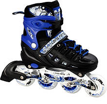 Ролики-коньки Scale Sport. Blue/Black (2в1) размер 34-37, фото 2