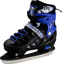 Ролики-коньки Scale Sport. Blue/Black (2в1) размер 34-37, фото 3