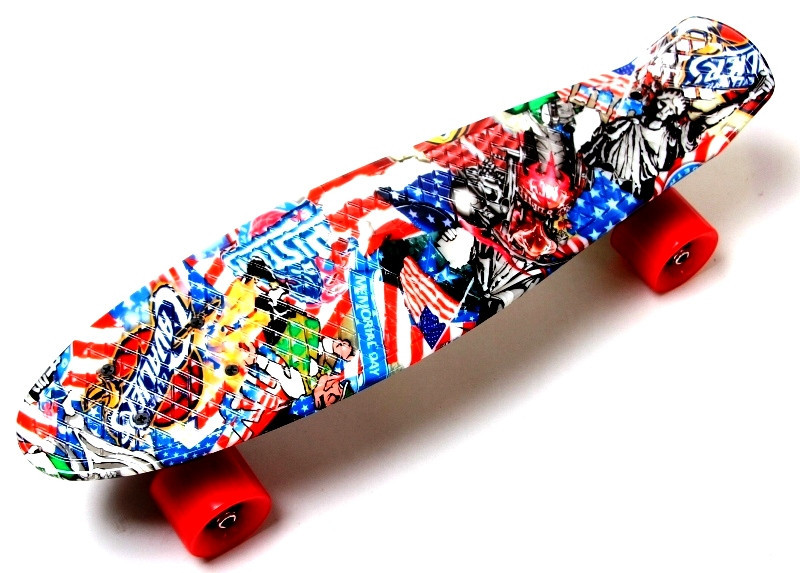 "Скейт ""Penny Board"" ""Graffiti"" NBA"