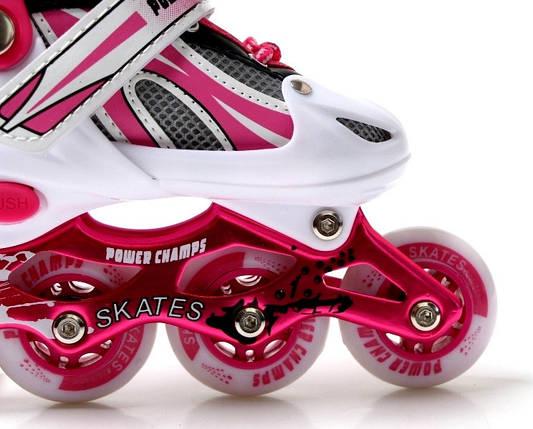 Ролики Power Champs. Pink размер 29-33, фото 2