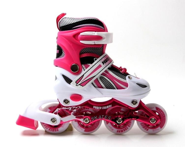 Ролики Power Champs. Pink размер 34-37