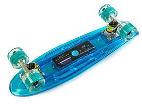 """Скейт """"Penny"""" """"Fish Skateboard Original"""" Blue. Музыкальная и светящаяся дека, фото 2"""