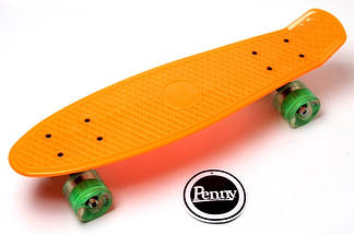 """Скейт """"Penny Board"""" Orange. Гравировка. Светящиеся колеса, фото 3"""