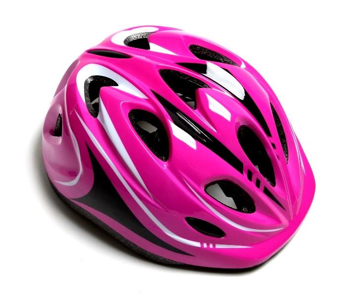 Шлем с регулировкой размера. Розовый цвет