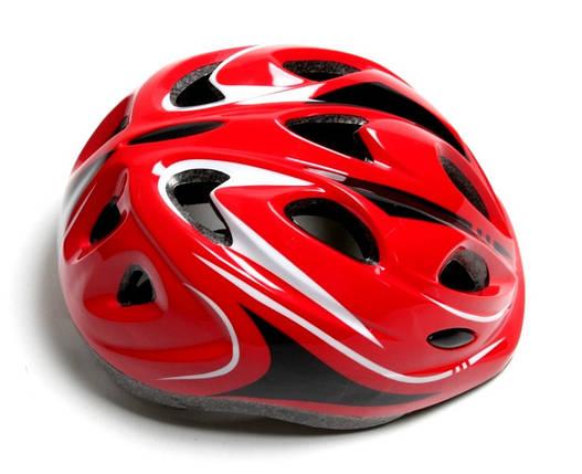 Шлем с регулировкой размера. Красный цвет, фото 2