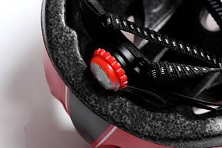 Шлем с регулировкой размера. Красный цвет, фото 3