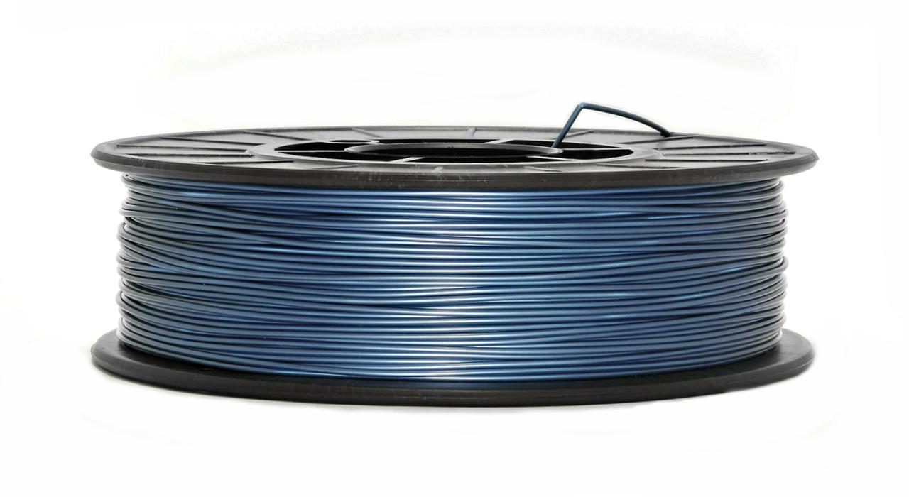 Нить PLA (ПЛА) пластик для 3D печати, Синий металлик (1.75 мм/0.75 кг)