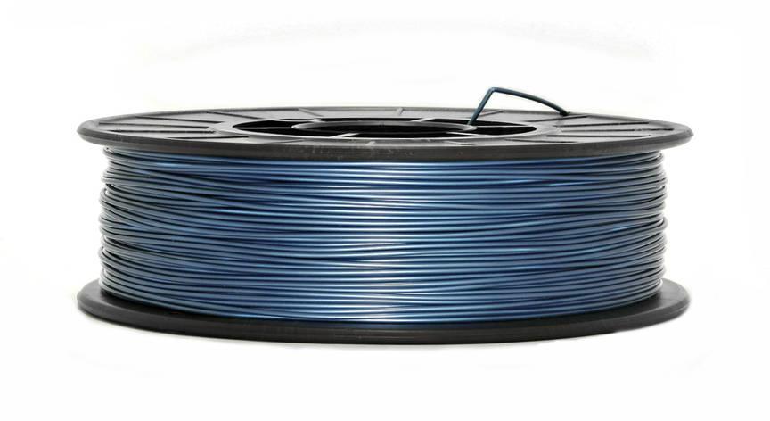Нить PLA (ПЛА) пластик для 3D печати, Синий металлик (1.75 мм/0.75 кг), фото 2