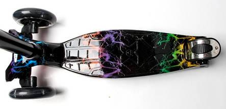 Самокат детский MAXI. Black side. Светящиеся колеса!, фото 3