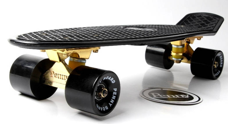 "Скейт ""Penny Board"" Black. Logo. Золотая подвеска! Гравировка!, фото 2"
