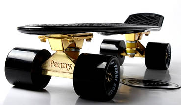 "Скейт ""Penny Board"" Black. Logo. Золотая подвеска! Гравировка!, фото 3"