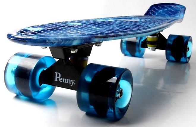"Скейт ""Penny Board""  ""Spice"" Blue, фото 2"