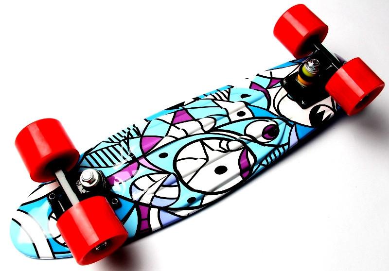 """Скейт """"Penny Board"""" """"Marco's"""" Blue 2in1"""