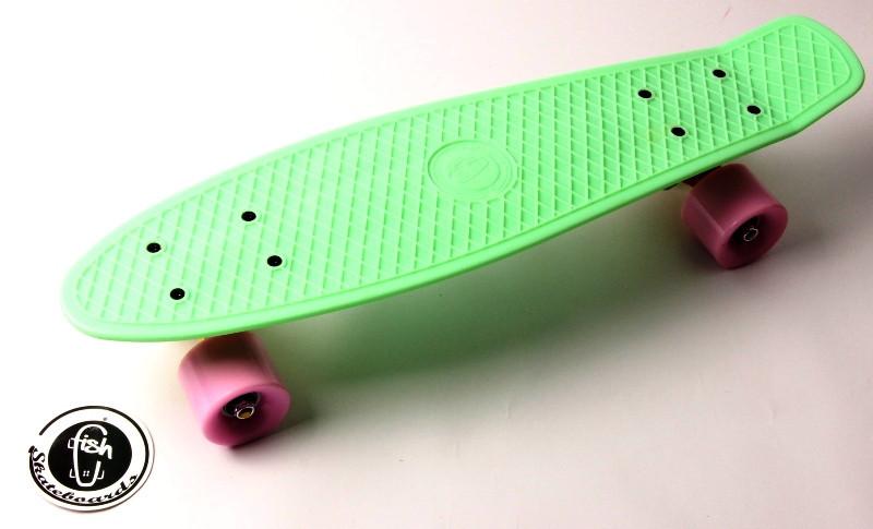"Скейт ""Penny Board"" ""Fish""  Мятный цвет."