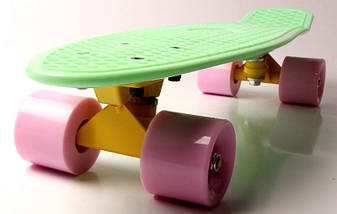 "Скейт ""Penny Board"" ""Fish""  Мятный цвет., фото 2"