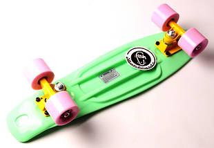 "Скейт ""Penny Board"" ""Fish""  Мятный цвет., фото 3"