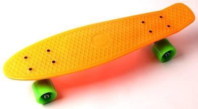 """Скейт """"Penny Board"""" """"Fish"""". Оранжевый цвет., фото 3"""