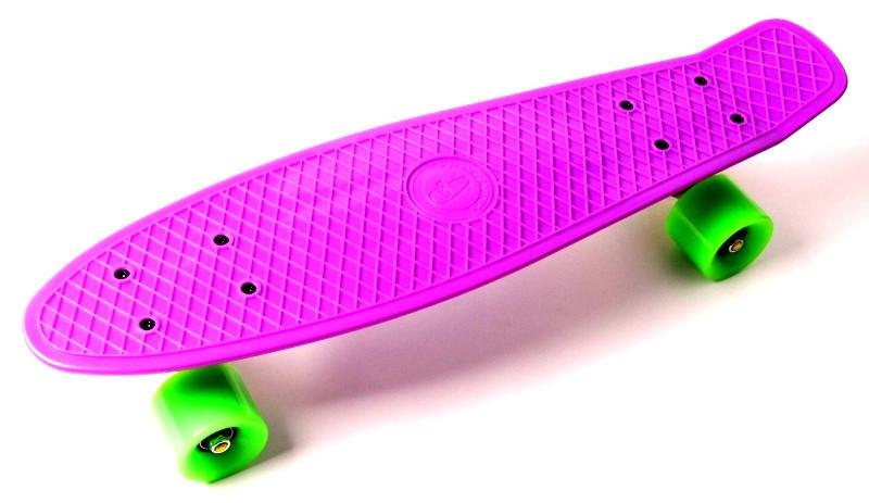 "Скейт ""Penny Board"" ""Fish"" Фиолетовый цвет."